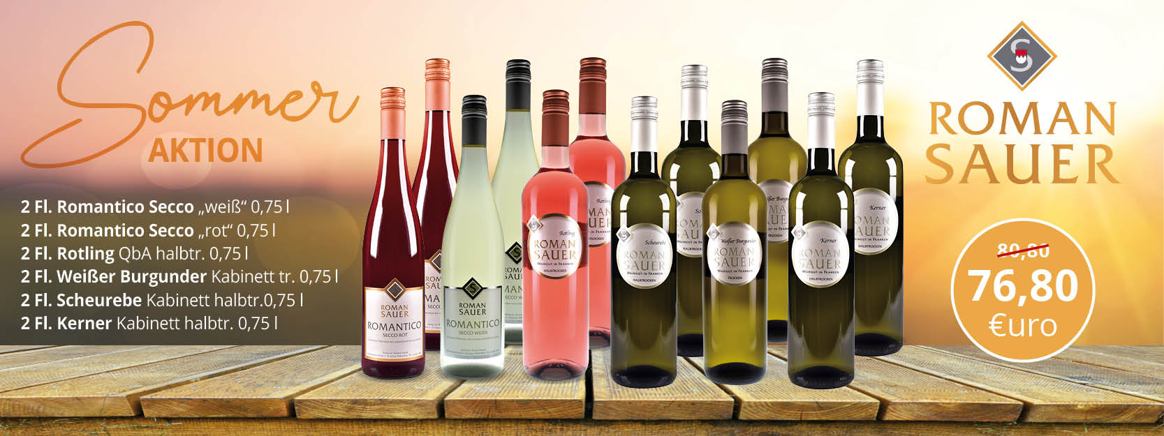 Sommer Wein Secco Paket